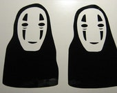 Spirited Away No Face 2x Decal Sticker Anime Totoro Macbook