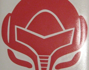 Metroid Samus helmet rub-on decal vinyl sticker Nintendo