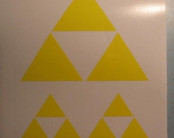 3x Nintendo Legend of Zelda Triforce rub on decal stickers