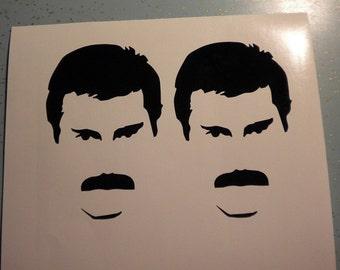 2x Queen Freddie Mercury vinyl decal stickers glam rock