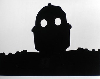 Iron Giant robot laptop die cut window decal sticker Sci Fi