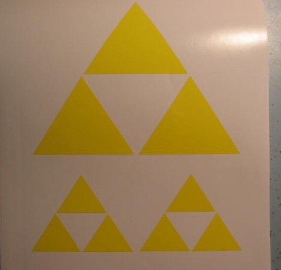 3x Nintendo Legend of Zelda Triforce rub on decal stickers