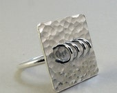 Loops - sterling silver ring