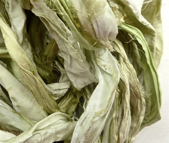 arctic willow recycled silk sari ribbon