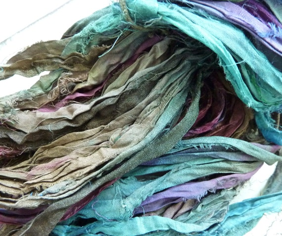 atlantic recycled silk sari ribbon