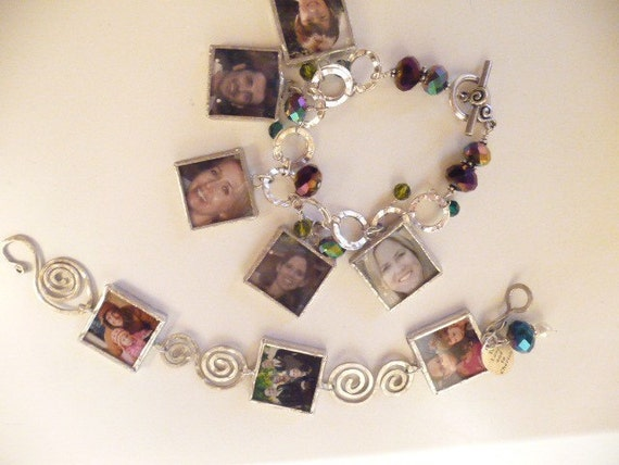Mother's Day Personalized Photo Charm Bracelet
