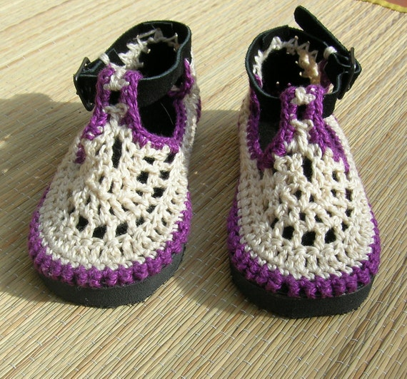 KIDS Mary Jane crochet SHOES - size 2i to 8,5T - Choose your colors