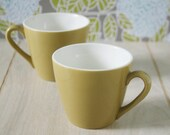 Mustard Gold Coffee Tea Cups