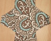 Blue and Brown Paisley 9 inch AIO