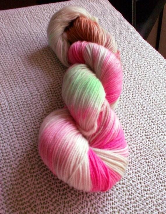 Buckeyed Ohio State Luxury Sock yarn 1 of 2