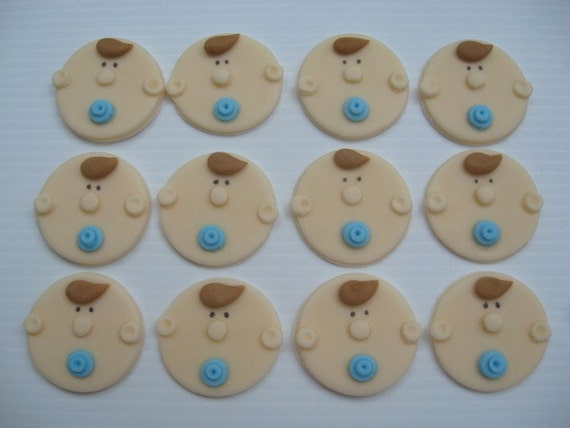 Fondant Cupcake Faces Fondant Cupcake Toppers Cute