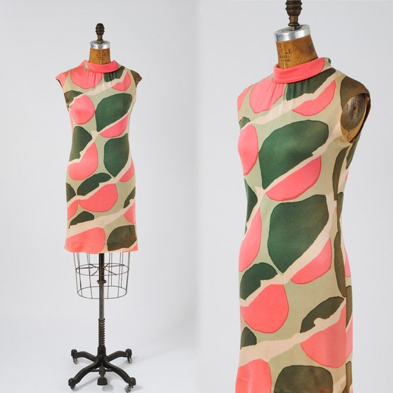 60's MOD Go Go Dress - Rock Your World in MOD Geography