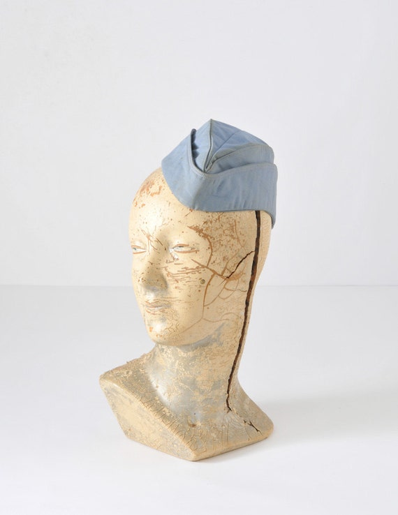 1950's Blue Airline Stewardess Hat