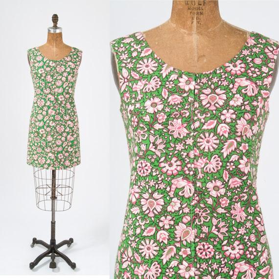 1960's Bird Print Mini Dress