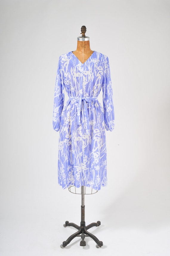 1980's Blue Bamboo Tent Dress