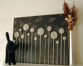 SALE 45% OFF -- Growing Hope (Black/White) 3D Relief Wall Art Metallic Gold Finish