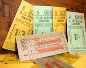 Vintage London Bus Tickets - Ephemera Pack of 8 Multi-colored - Very Unique