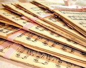 Vintage Sheet Music Paper Pack - 20 Sheets Great Mix