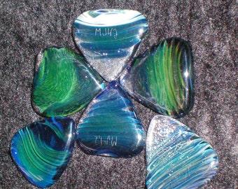 Custom Guitar Pick - Handblown Glass - Made to Order