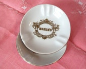 Vintage China Ashtrays Ernies Famous San Fancisco Restaurant Alfred Hitchcock Movie Collectibles