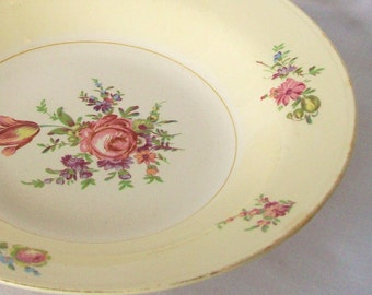 1945 Eggshell Nautilus Homer Laughlin Serving Bowl Vintage Vegetable Dish Priscilla Pattern 1940s China