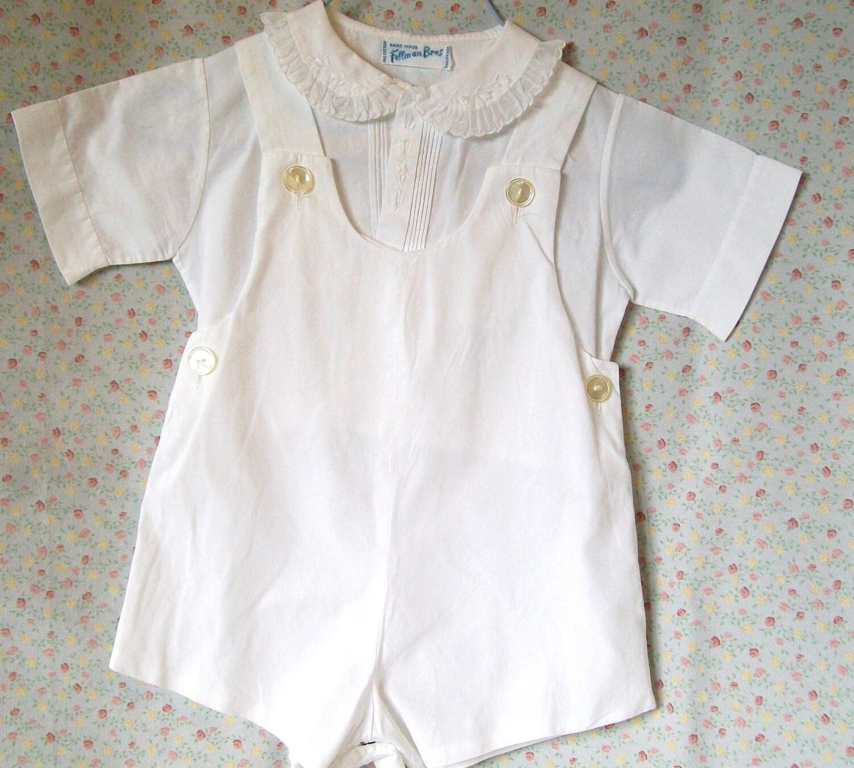 vintage baby boy clothes feltman brothers romper shirt