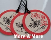 Personalized 2.25inch Circle Tags - Set of 120 - Weddings - Bridal Shower - Thank You - Favor Tag
