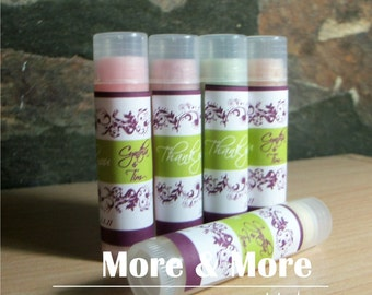 Wedding Favors - Lip Balms - Set of 100 - Choose Flavor and Design