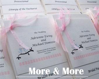 Layered Wedding Programs - Set of 150