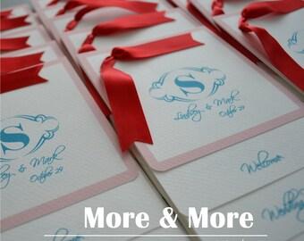 Layered Wedding Programs - Set of 100