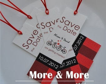 Save the Date Bookmarks - Set of 70 with Envelopes