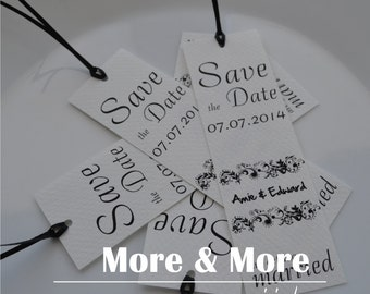 Save the Date Bookmarks - Set of 75 with Envelopes