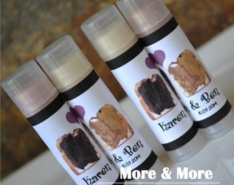 Bridesmaid Gifts - Bridal Shower Favors - Wedding Favors - Lip Balms - Set of 25 - Choose Flavor and Design
