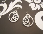 Zen Circle Earrings (White)