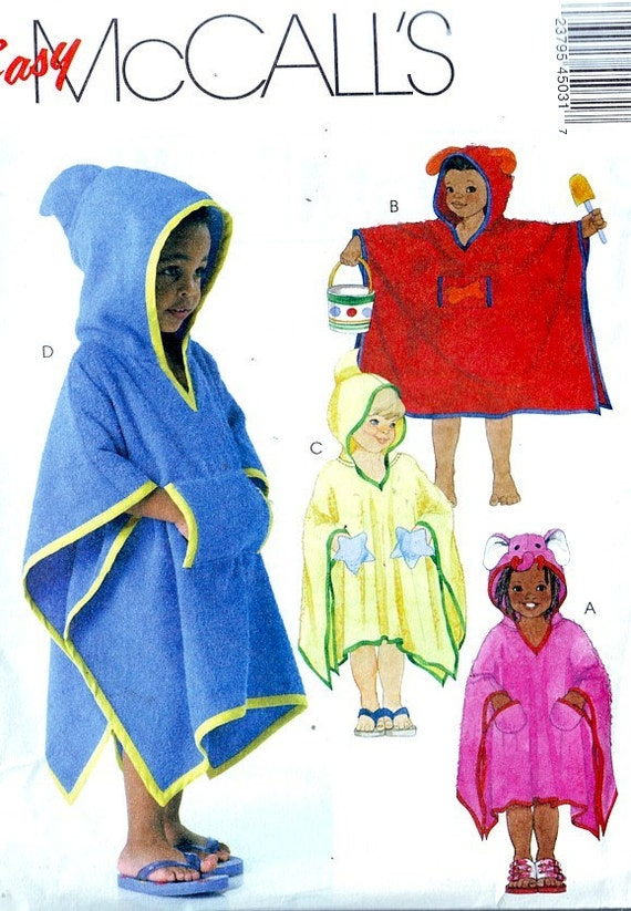 McCall's 4503 EASY Child's Beach & Pool Towel Cover-up