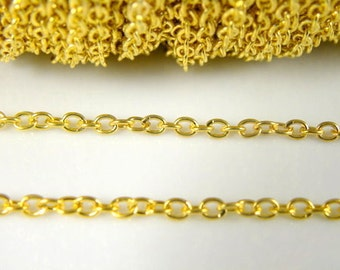 5 ft - Twist Chain, Lead Free and Nickel Free, Gold Plated, Link:3x4mm, 0.7mm thick