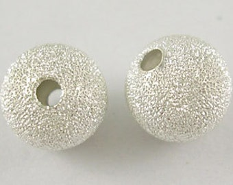 4mm Silver Plated Stardust Beads - 20 pcs