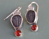 Trilobite and Carnelian Earrings