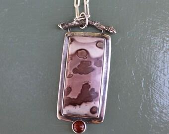 Red Flower Jasper Necklace