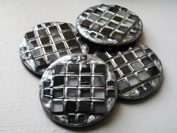 Silver Stone Circle Coasters (Set of 4)