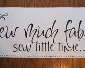 Sew much fabric sew little time - vinyl wall design