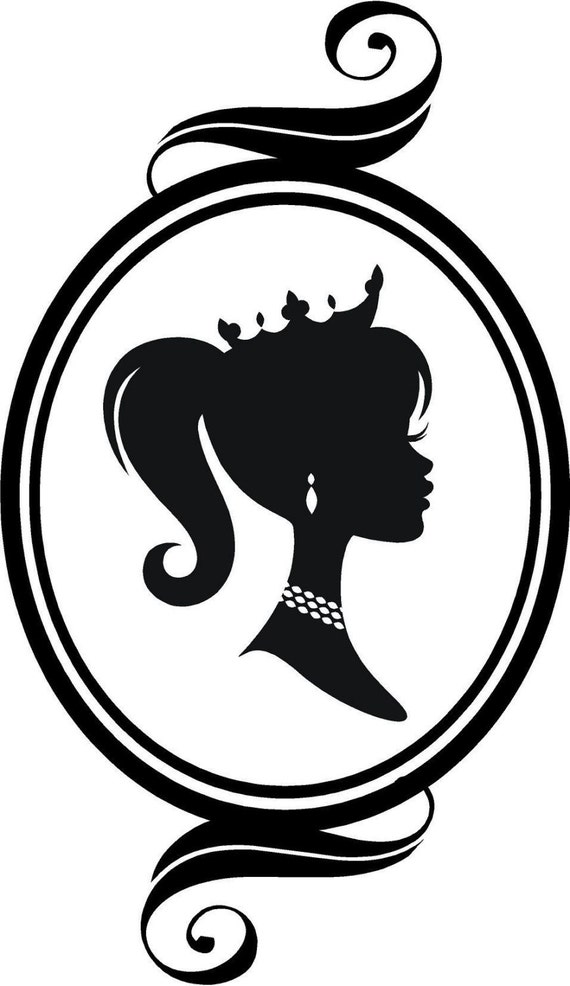 Cameo Princess Silhouette Vinyl Wall Graphic Sale
