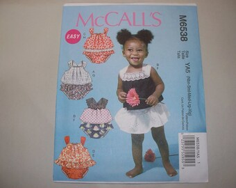 New McCall's  Baby Clothes Pattern, M6538  (Free US Shipping)