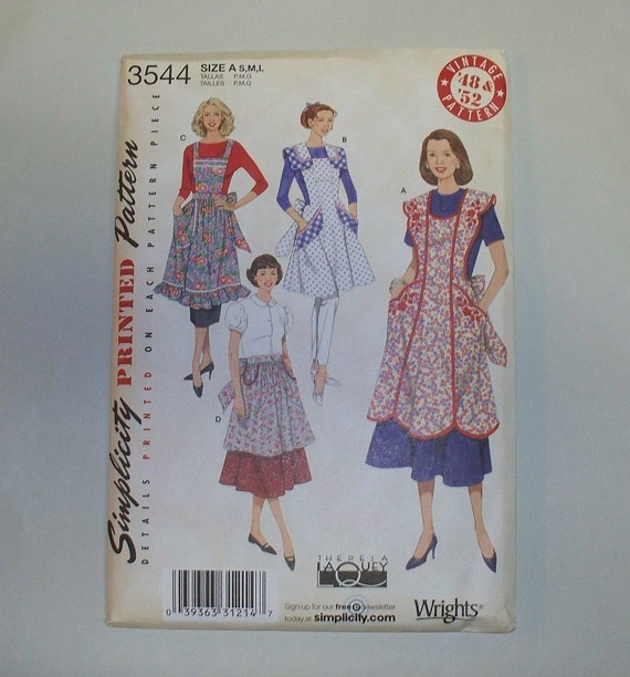 New Simplicity, Vintage Style Apron Pattern, 3544  (Free US Shipping)