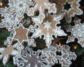RESERVED FOR LISA: Snowflake Decoration Ornament Gingerbread Christmas