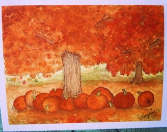 Autumn Note Cards: Set of 4 Cards