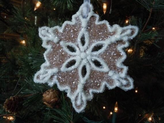 Christmas Ornament- Snowflake Let's Build a Snowman