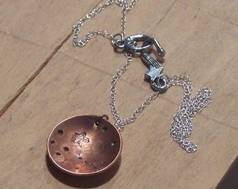 Bowl of Stars - Handstamped Custom Constellation Necklace