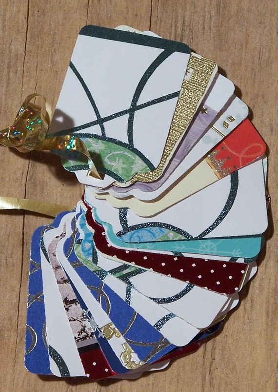 Upcycled Holiday Gift Tags - Modern Graphics