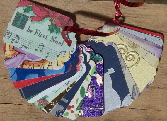 Upcycled Holiday Gift Tags - Christian Themes